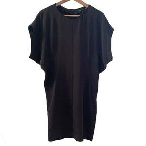NWT Balenciaga Silk Navy Tunic Dress Sz 36